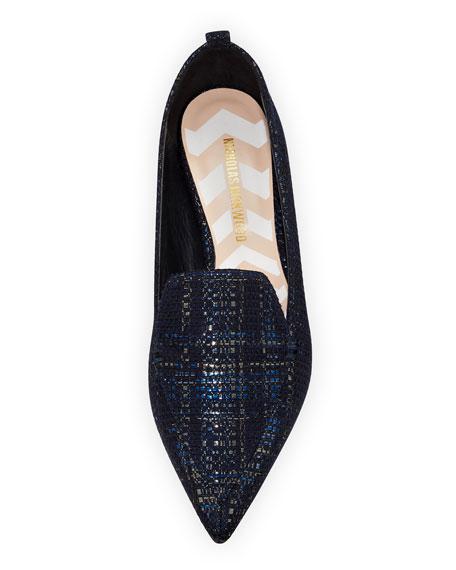 Beya Plaid Tweed Loafer