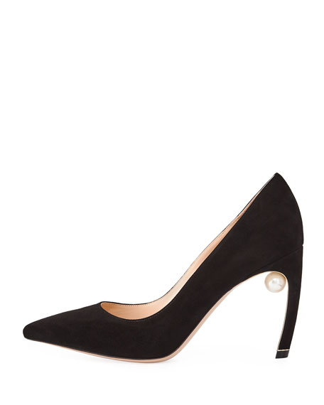 Mira Pearly Suede 90mm Pump