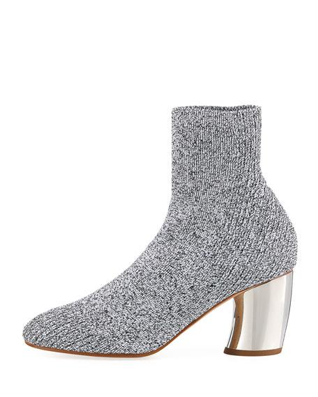 Space Dye Knit Sock Block-Heel Bootie