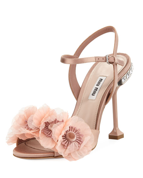 Miu Miu Flower embellished sandals NzqeUq