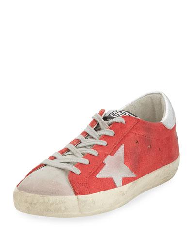 Distressed Suede Low-Top Sneaker