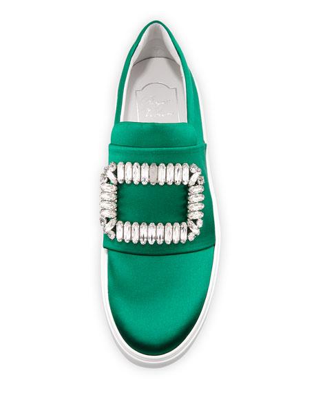 Sneaky Viv Crystal Satin Buckle Sneaker