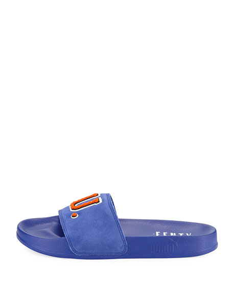 Leadcat Fenty Suede Pool Slide Sandal, Blue