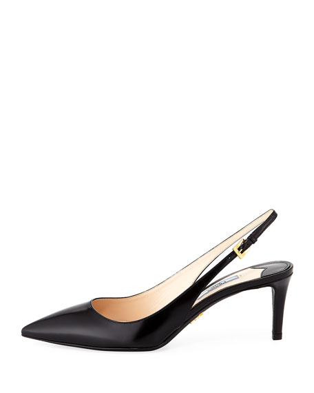 Leather 65mm Slingback Pump