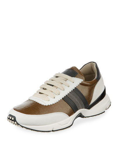 Waxed Leather Contour Sneaker