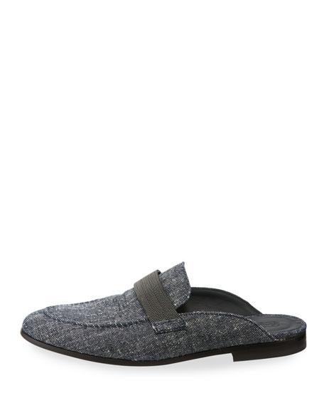 Monili-Beaded Denim Loafer