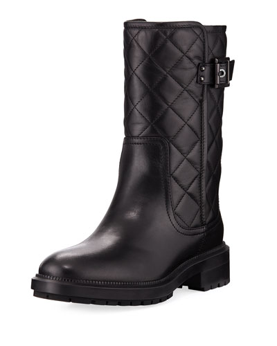Layla Quilted Leather Boot