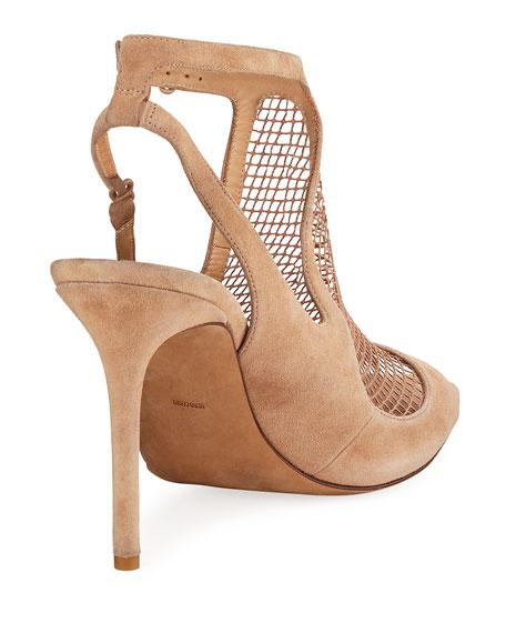 Piper Suede Fishnet Sandal