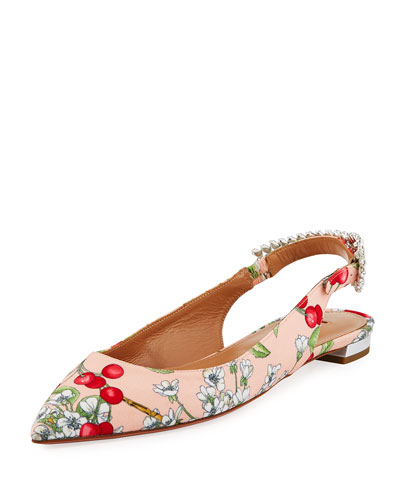 Portrait of a Lady Satin Slingback Flat