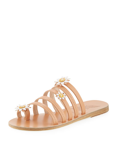 X FABRIZIO VITI VICTORIA LEATHER SANDALS