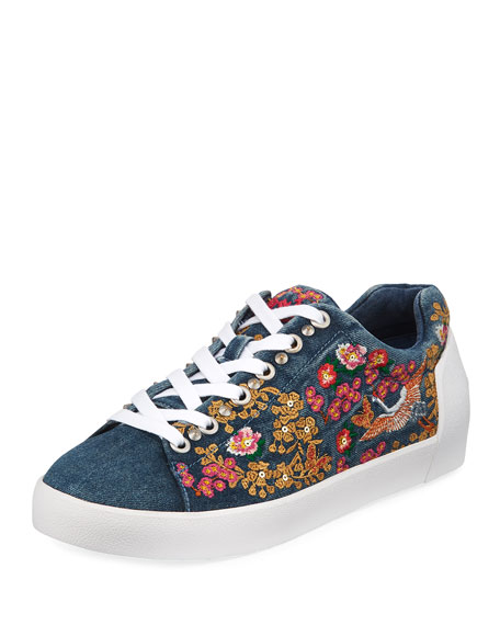 NIPPON DENIM EMBROIDERED SNEAKERS
