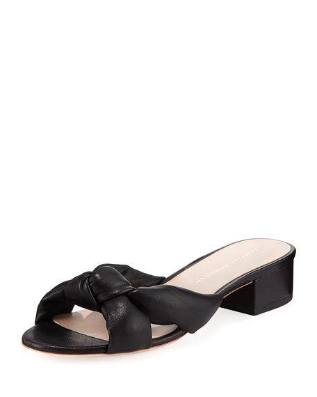 Elsie Knotted Leather Mule Sandal