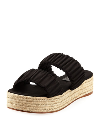 Yolanda Satin Platform Sandal