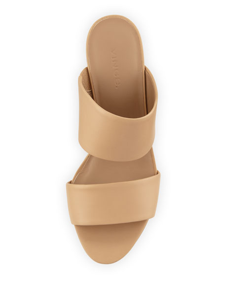 Benetta Leather Slide Sandal