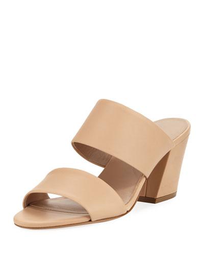 Benetta Leather Slide Sandal