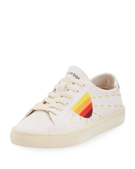 Sun-Embroidered Canvas Sneaker
