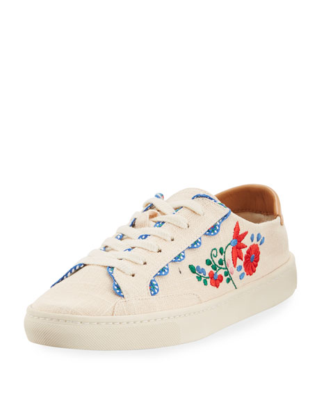 IBIZA EMBROIDERED LINEN SNEAKERS