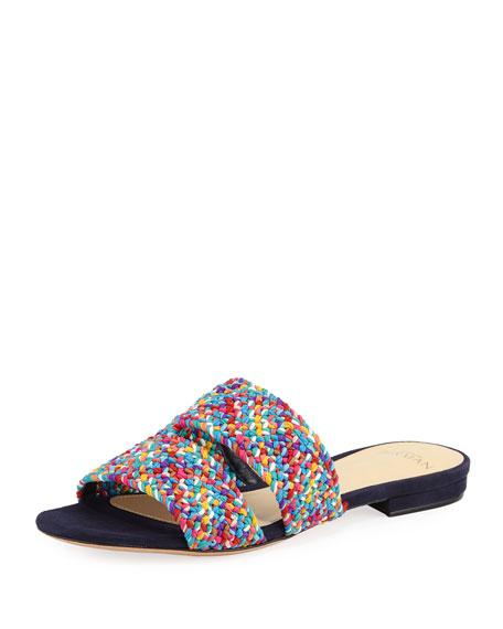013fa09c833 Alexandre Birman Miah Woven Flat Slide Sandal
