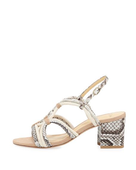 Giovanna Strappy Python Rope Sandal