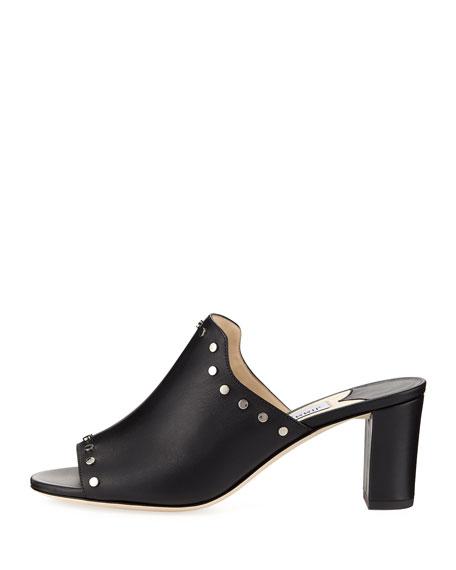Myla Studded Leather Slide Sandal