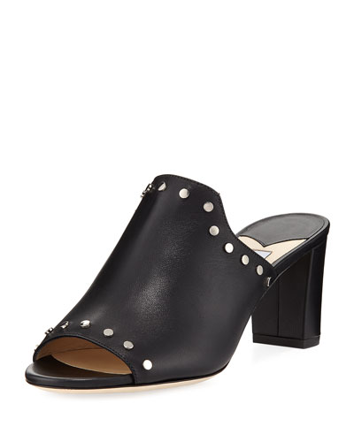 Myla Studded Leather Slide Sandal