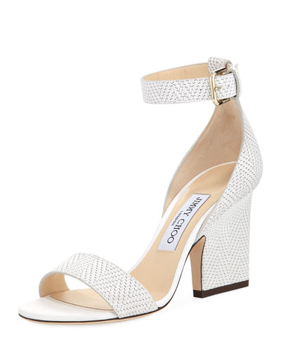 Edina Textured Leather d'Orsay Sandal