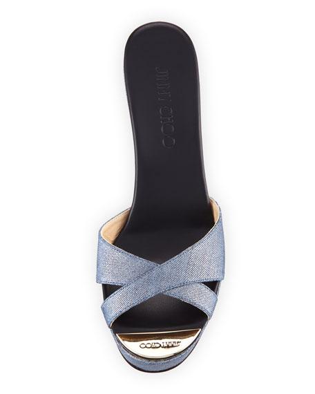 Perfume Denim Wedge Platform Sandal