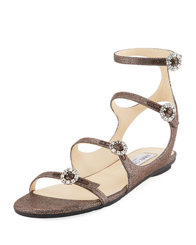 Naia Strappy Metallic Flat
