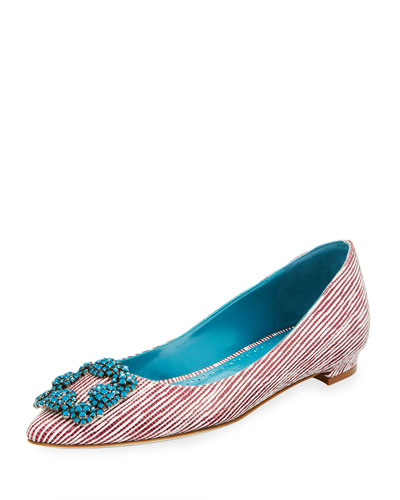 Hangisi Printed Leather Flat