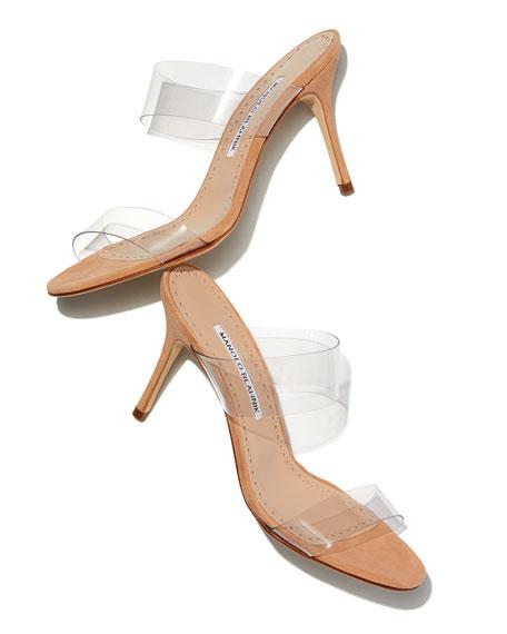 Scolto PVC Two-Strap Sandals