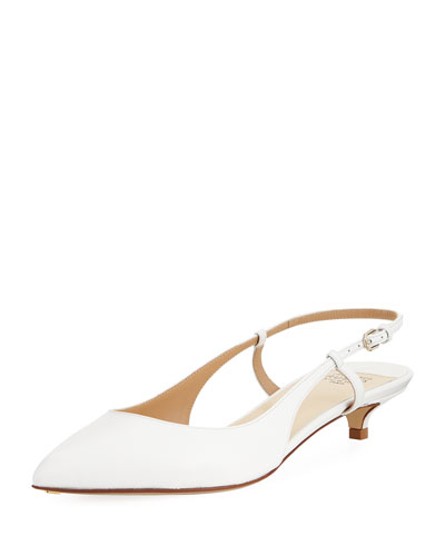 Leather 25mm Slingback Pump