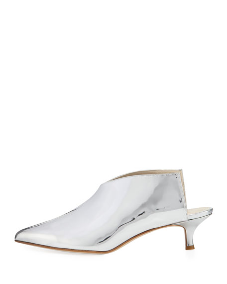 Jase Metallic Leather Mule Pump
