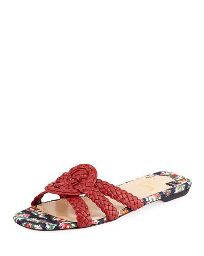 Marilla Braided Red Sole Sandals