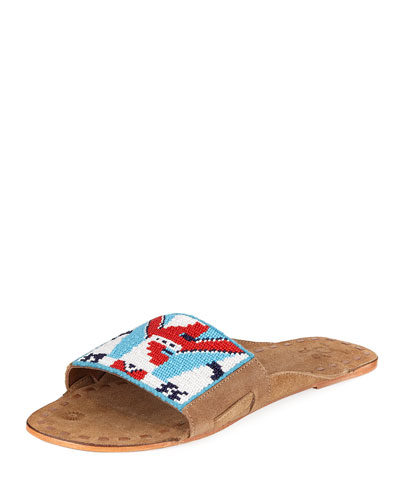 Noona Geo Beaded Slide Mule