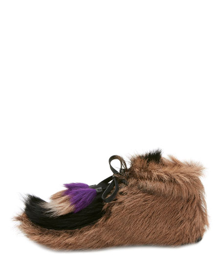 Fur Tassel Self-Tie Boot