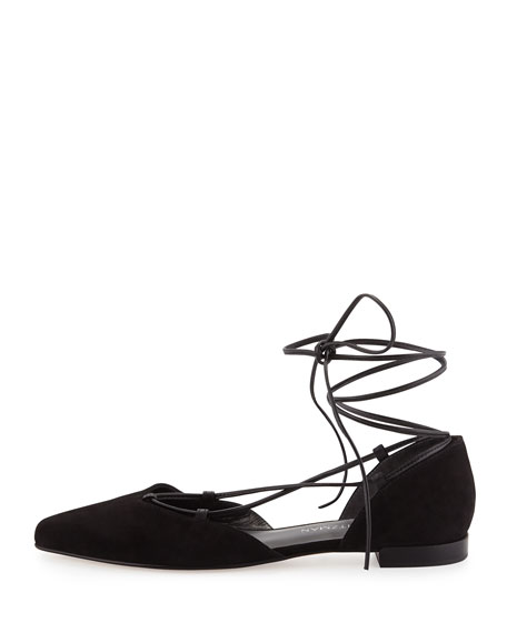 Gilligan Lace-Up d'Orsay Flat, Black