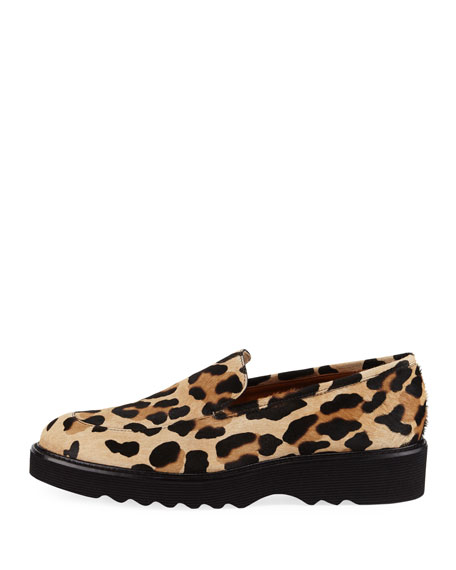 Kelsey Metallic Leopard Calf Hair Loafer
