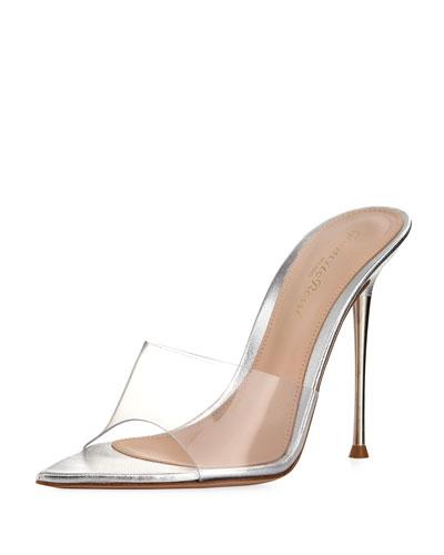 Plexi Illusion Pin-Heel Slide Sandal