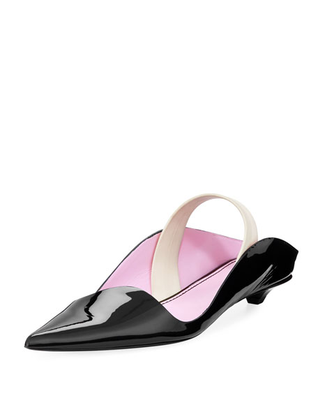 00d9085f5b8 Proenza Schouler Notturno Wave Flat With Rubber Strap