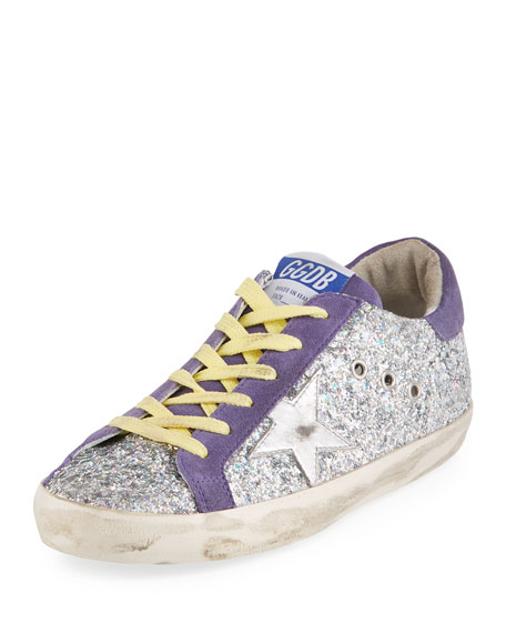 Glittered Star Low-Top Sneakers