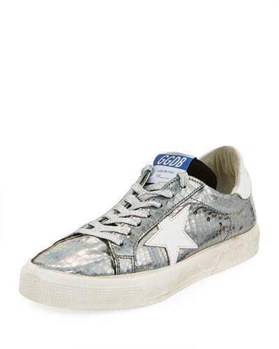 May Metallic Leather Sneaker