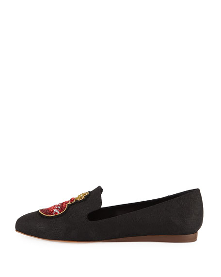 Griffin Embellished Flat Loafer