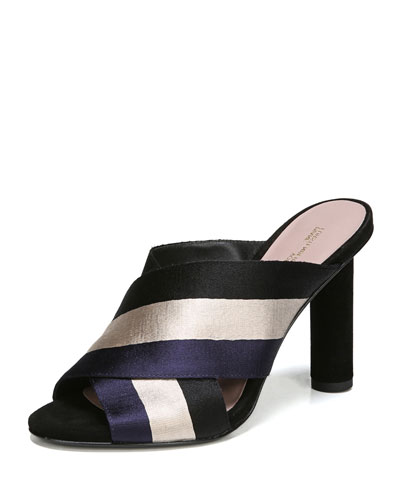 Emilyn Striped Slide Sandal
