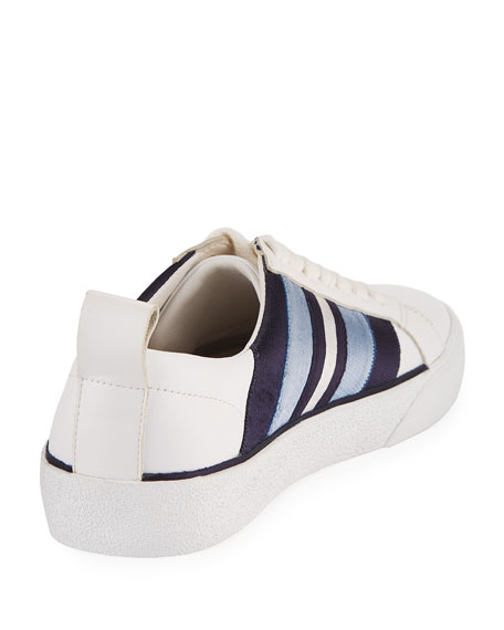 Tess-2 Striped Leather Lace-Up Sneaker