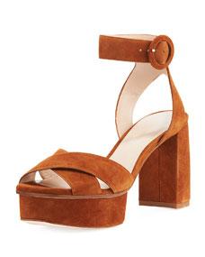 53fbf69de462 Stuart Weitzman Carmina Suede Platform Sandal