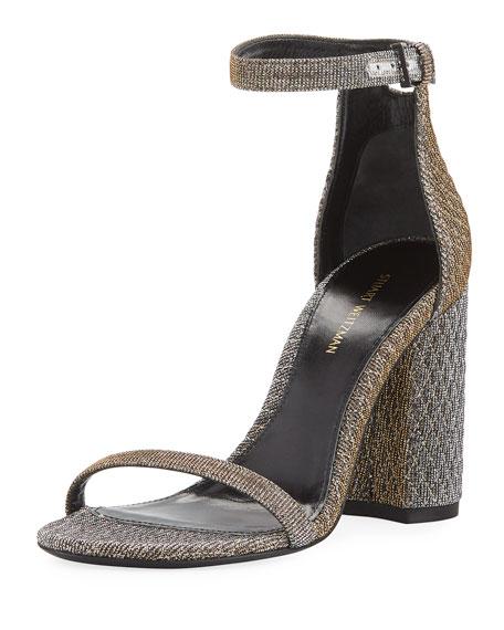 201a3bd1be Stuart Weitzman Nuquilt Block-Heel d'Orsay Sandal