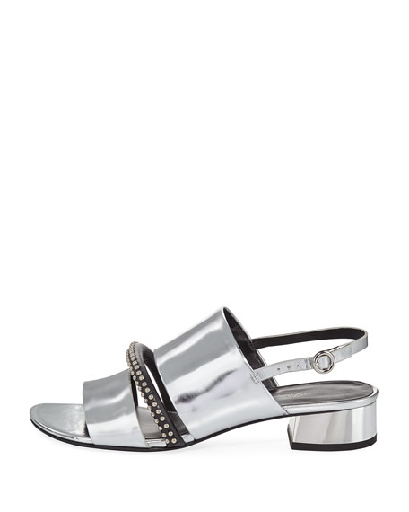 Drum Studded Metallic Sandal