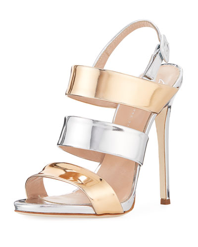 Two-Tone Metallic 120mm Sandal