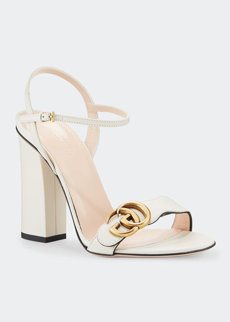 4d11804e73aa Gucci Marmont Leather Block-Heel Sandals