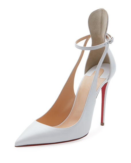 Christian Louboutin Mascara 100mm Leather Red Sole Pumps